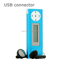 LCD screen usb port connector mp3 music player 2GB 4GB memory mp3 player