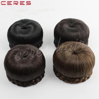 Fashion Synthetic Hair Bun Accessories Chignon Pieces Clip For Black