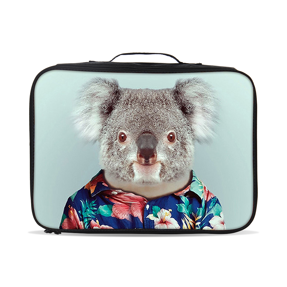 Ergonomic design vintage cute animal printing 600D new product funny suitcase for traveling