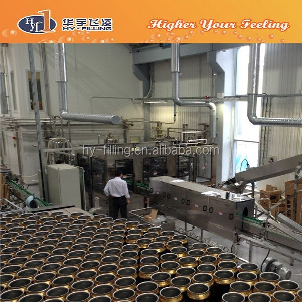 HY-Filling Canning Beer Machine Production Line
