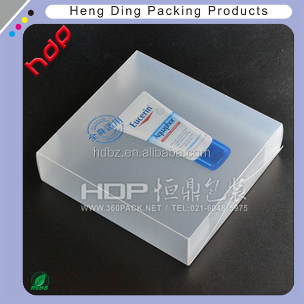 Top quality Customized transparent plastic pp box package With color Printing