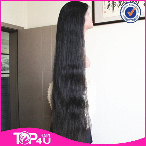 High quality 100% virgin remy human hair 40 inch full lace wig