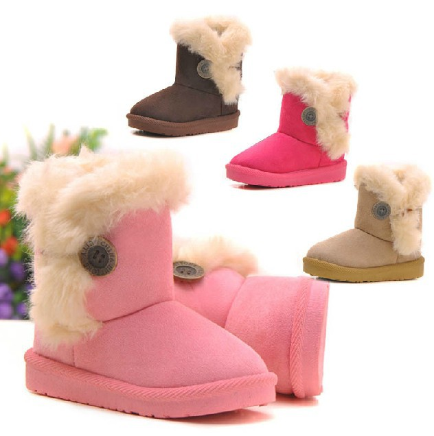 4b896a8e3a62 Get Quotations · 2014 Winter Children Snow Boots Child Boys Girls Warm Fur  Thicken Shoes Kids cotton-padded