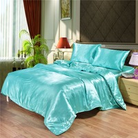 OEM bedding comforter sets luxury silk satin bedding set bed sheet duvet cover