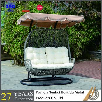 2 Seater Swing Rattan Egg Chair