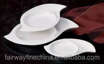 Five Star Hotel Sublimation Snail Shape Porcelain Plate