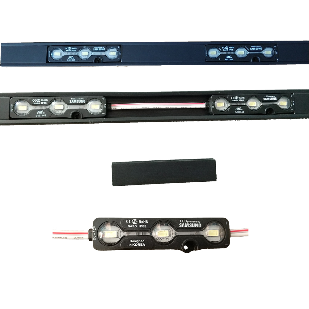 high brightness LED track light module 7leds per meter with ul list