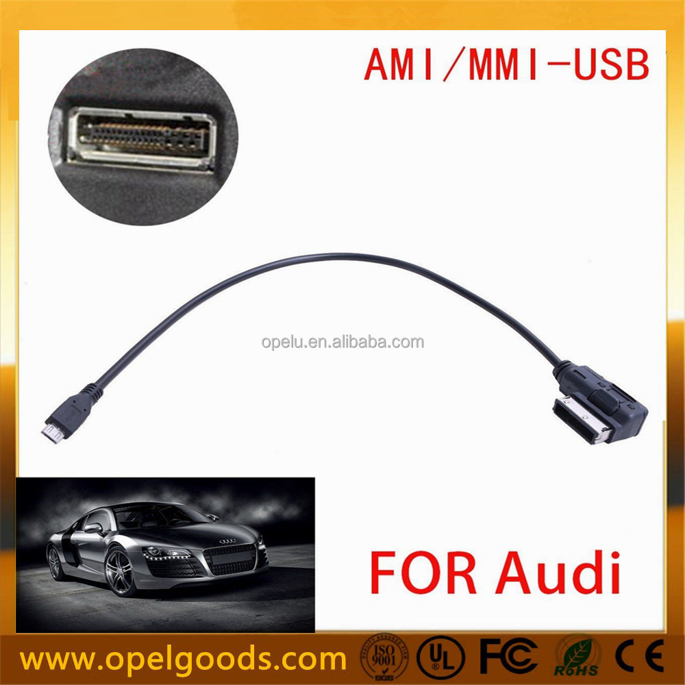 Music Interface AMI MMI AUX Adapter Cable With Micro USB Connector For VW Audi