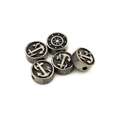 S900 Fashion stainless steel anchor charm beads; stainless steel accessory for bracelet making