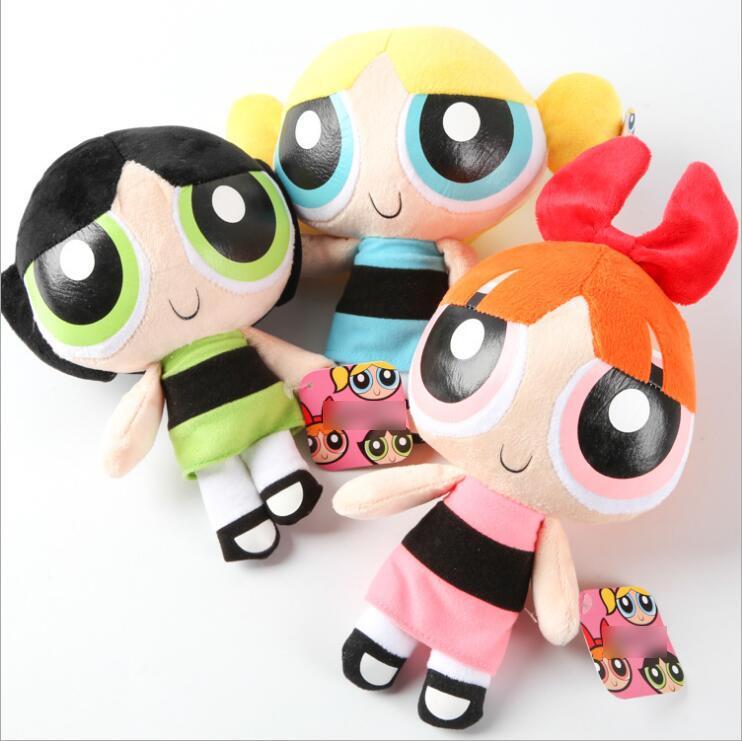 2016 2016 Free shipping The Powerpuff Girls Plush toy doll Sucker ornaments cloth doll