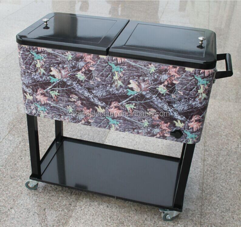Stainless Steel Garage U0026 Patio Beverage Cooler Cart, Oval Steel Patio  Cooler Cart 01