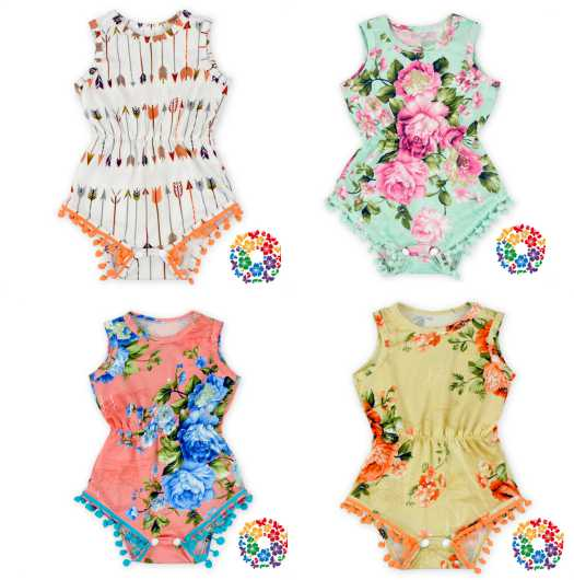 New born baby girl clothes summer romper bodysuit