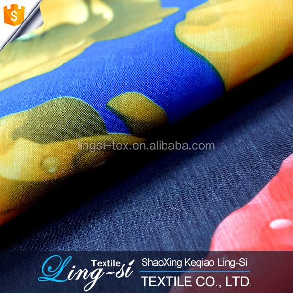 N/P Stretch Taffeta Printed Fabric for Dress