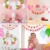 Its A Girl BABY SHOWER Decoration Set Banner Paper Tassel Garland Girl's Birthday party decorations Supplies