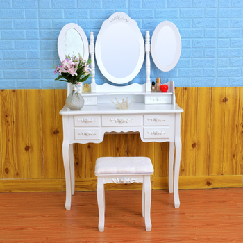 D1718 lighted makeup antique style table wooden table makeup sets dressing table home furniture