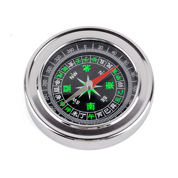 promotional outdoor 60mm mini round silver brass watch compass magnetic compass for hiking