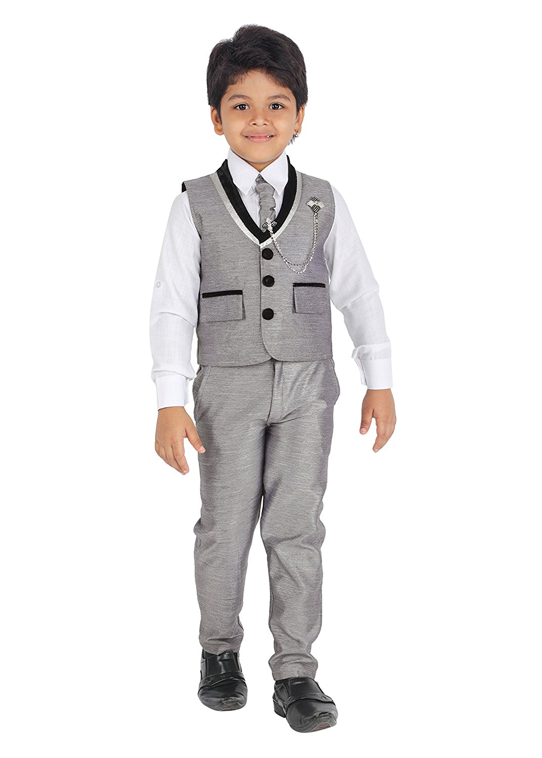 87270eb88ce Get Quotations · ahhaaaa kids Indian ethnic outfits wedding and party wear  waistcoat suit set for boys