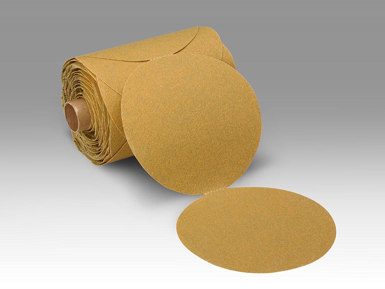"3M Stikit Paper Disc Roll 363I, PSA Attachment, Aluminum Oxide, 8"" Diameter, P100 Grit (Roll of 50)"