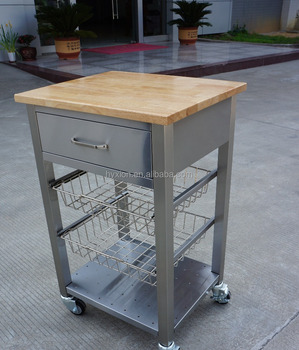 High Quality Stainless Steel Kitchen Cart With Wheels And Drawers