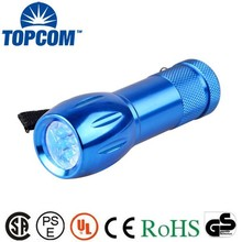 365-400nM 9 LED Ultraviolet UV Flashlight /UV torch flashlight/UV torch light with 3AAA