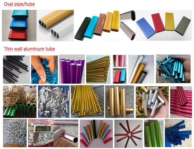 Wooden color rectangular aluminum tube and aluminium pipes round pipe