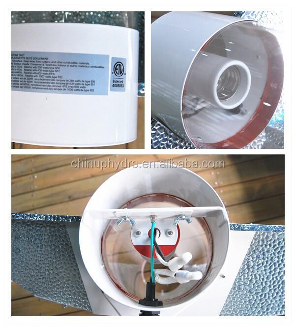 1000w Hps Grow Light Reflector Hoods/ Air Cool Tube Aluminium Reflector  Lamp Shade/ Cool