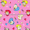100%Cotton Pleasant Red Love Heart Printed Flannel Fabric