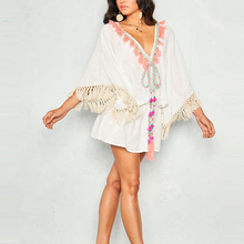 <span class=keywords><strong>Kaftan</strong></span> kwastje sexy cover up summer beach jurken badmode