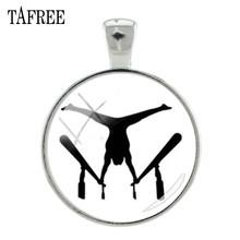 TAFREE художественная гимнастическая картина стеклянный кабошон амулеты Подарки для женщин ручной работы брелок и ожерелье аксессуар GY171(Китай)