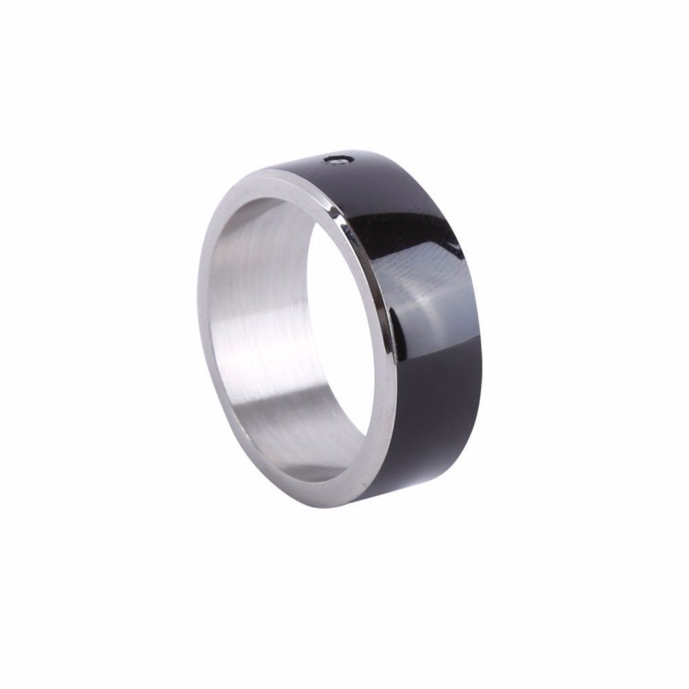 Timer Newest Magic Smart Ring Universal for All Android Windows NFC Cellphone Mobile Phones, Ring Size 8(girth 57.1mm) (Black)