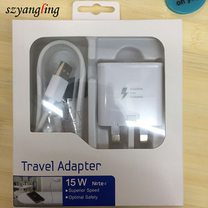 China supplier UK EU US plug adapter for samsun g galaxy s6 usb charger adapter fast charging