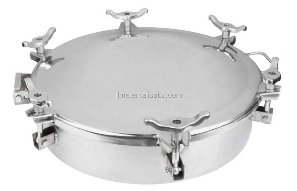 20''API with 6 claws single plate stainless steel round located manhole cover for tanker truck parts H801A-500