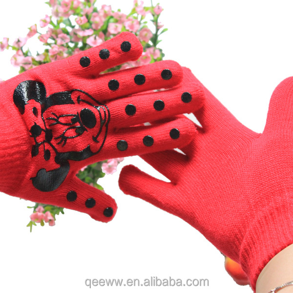 Colorful Hand Protect Acrylic Knitting Funny Kids Gloves,Cheap Plain Cute Winter Warm Girls gloves