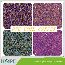 2016 hot sell Various colors high quality PVC coil carpet