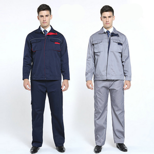 Men Women Work Clothing Jacket and Pants Workwear Sets Long Sleeve Workers Labor Uniforms Overalls