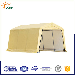 10 ft x 15 ft x 8 ft Tan PE Garage Car Shelter without Floor