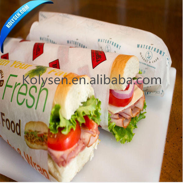 Customized food grade burger/sandwish wrapping paper