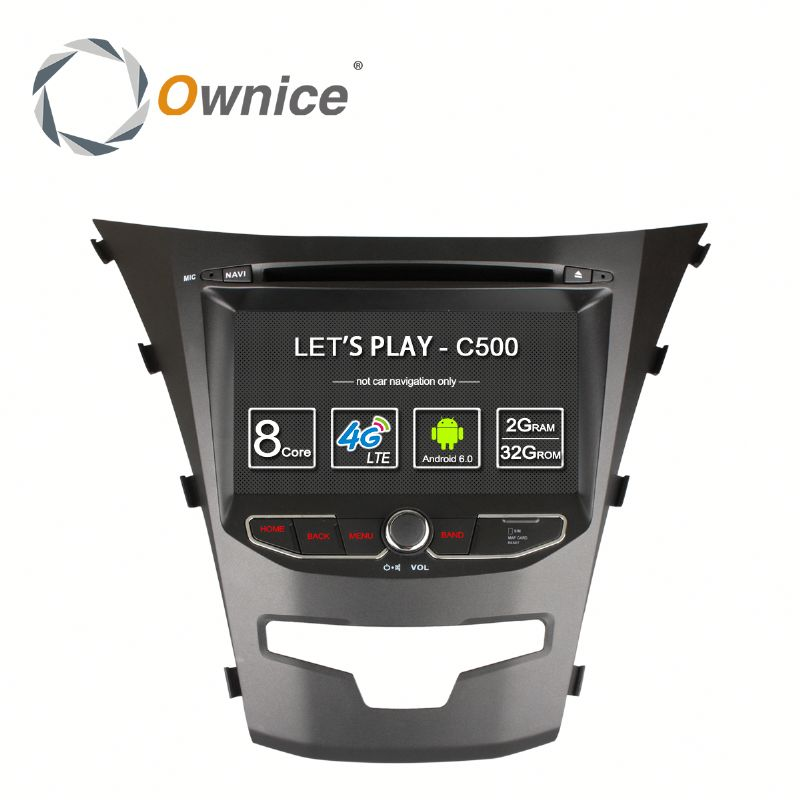 Ownice 8 Core Android 6.0 car head unit for ssangyong korando support TV OBD DAB GPS NAVI RADIO Built 4G LTE