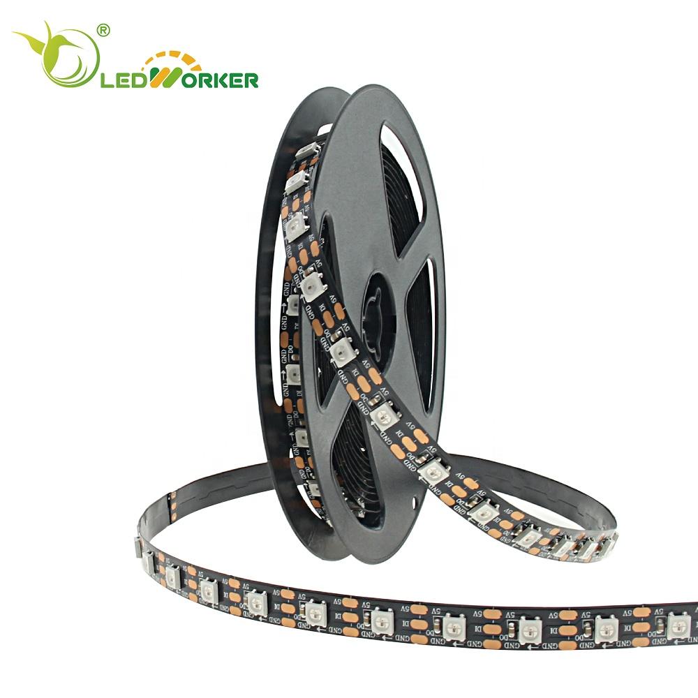 Factory Price 7070 Led Strip Ws2812b 5V 5050 Rgb Addressable 144 Leds/m Pixel Digital Led Strip A2818
