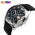 2016 New Sport Watches men Fashion Quartz Wrist watch Waterproof Leather Band Stopwatch Luxury Brand Skmei