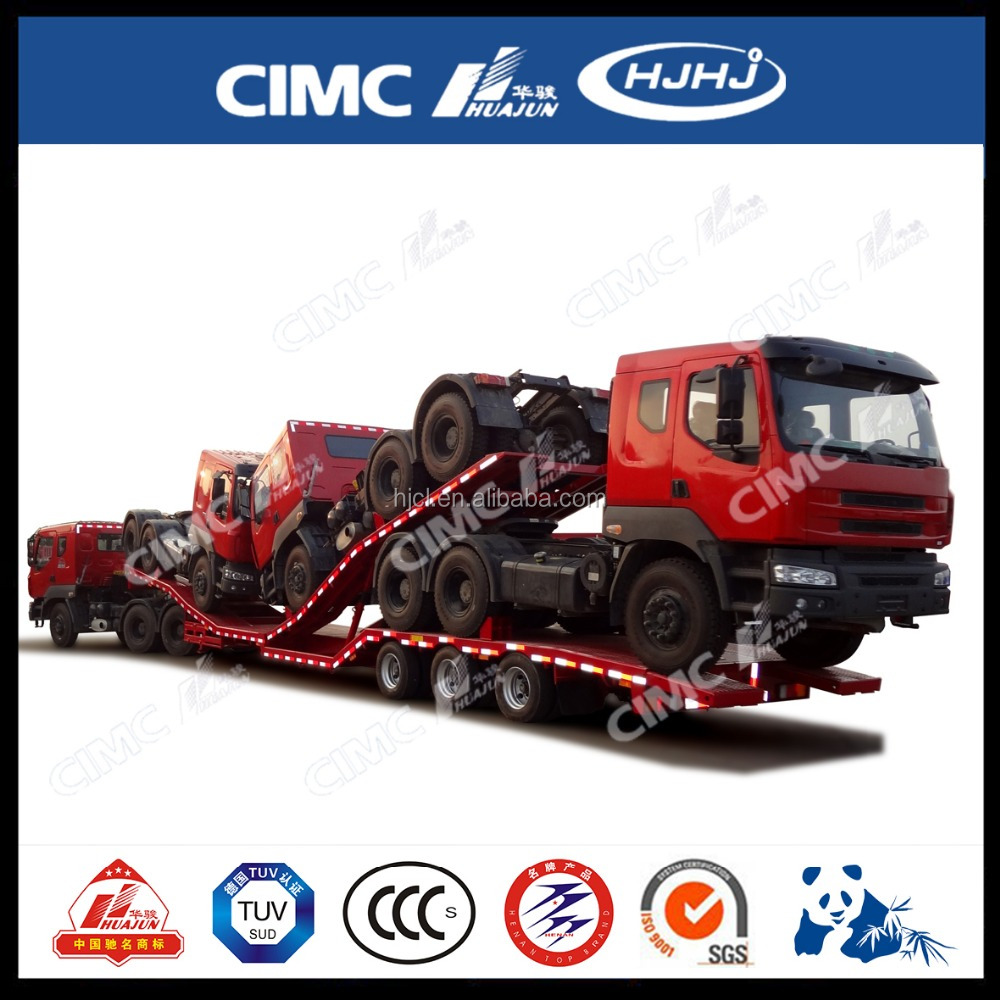 Twin Deck Hydraulic Double Axles Transport Car Trailer