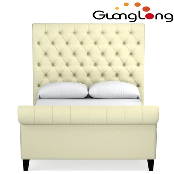 Wholesale Leather Upholstered Bed/simply Pu Bed Frame Of Hotel - Buy ...