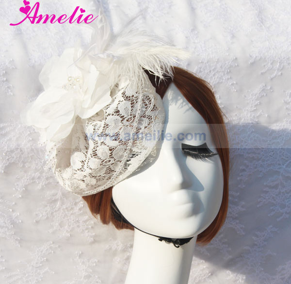 Vintage Lace Wedding Fascinators And Hats