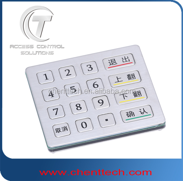 factory original vandal resistance keypad with 16 keys