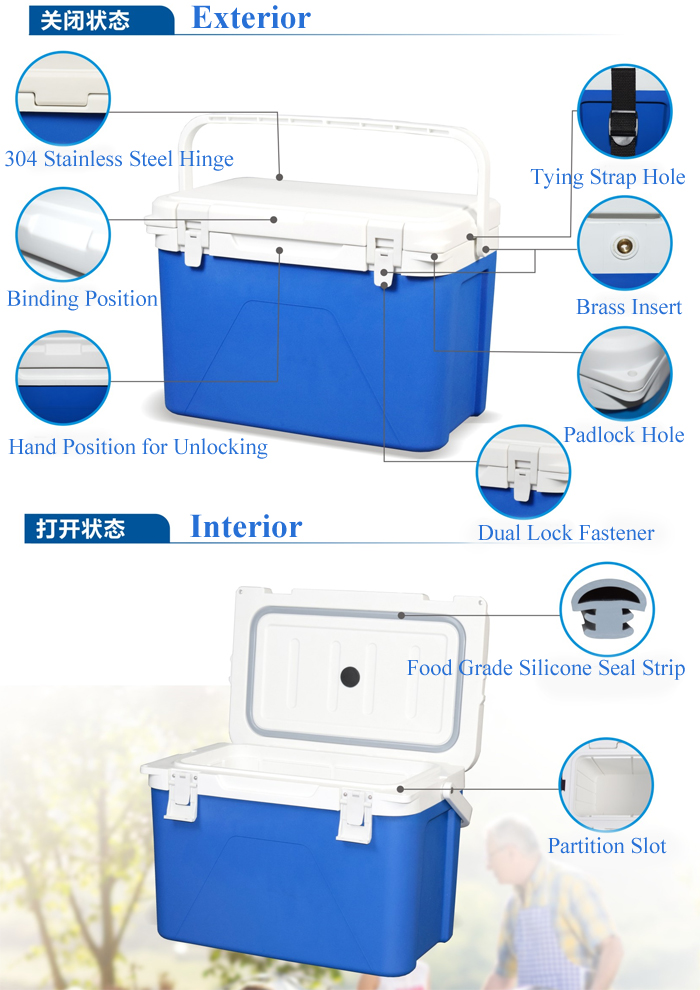 Portable Medical Cold Chain Cooler Box 12L with Strap for Vaccines Ship