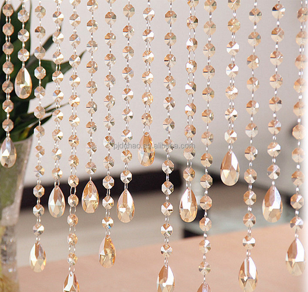 Pujiang Factory Price Decorative Crystal Bead Curtain