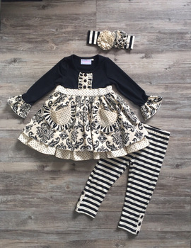 d129c70dc 2017 Yawoo online baby clothing stores damask print outfits kid cloth baby  fashion christmas designer baby