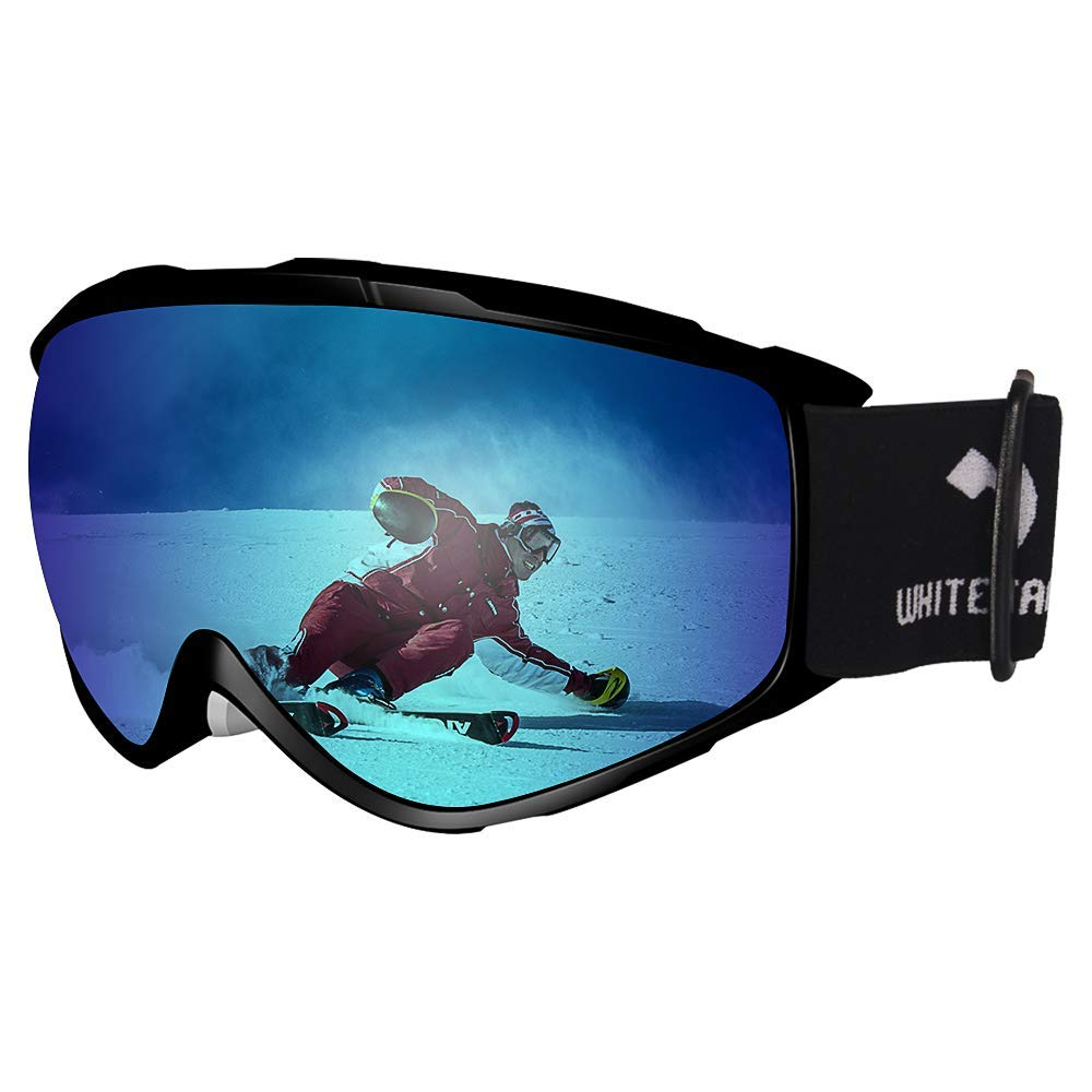 WhiteFang Ski Goggles Snow Snowboard Goggles Over Glasses Goggles Dual Layer Lens, Anti-Fog 100% UV400 Protection for Men Women Youth