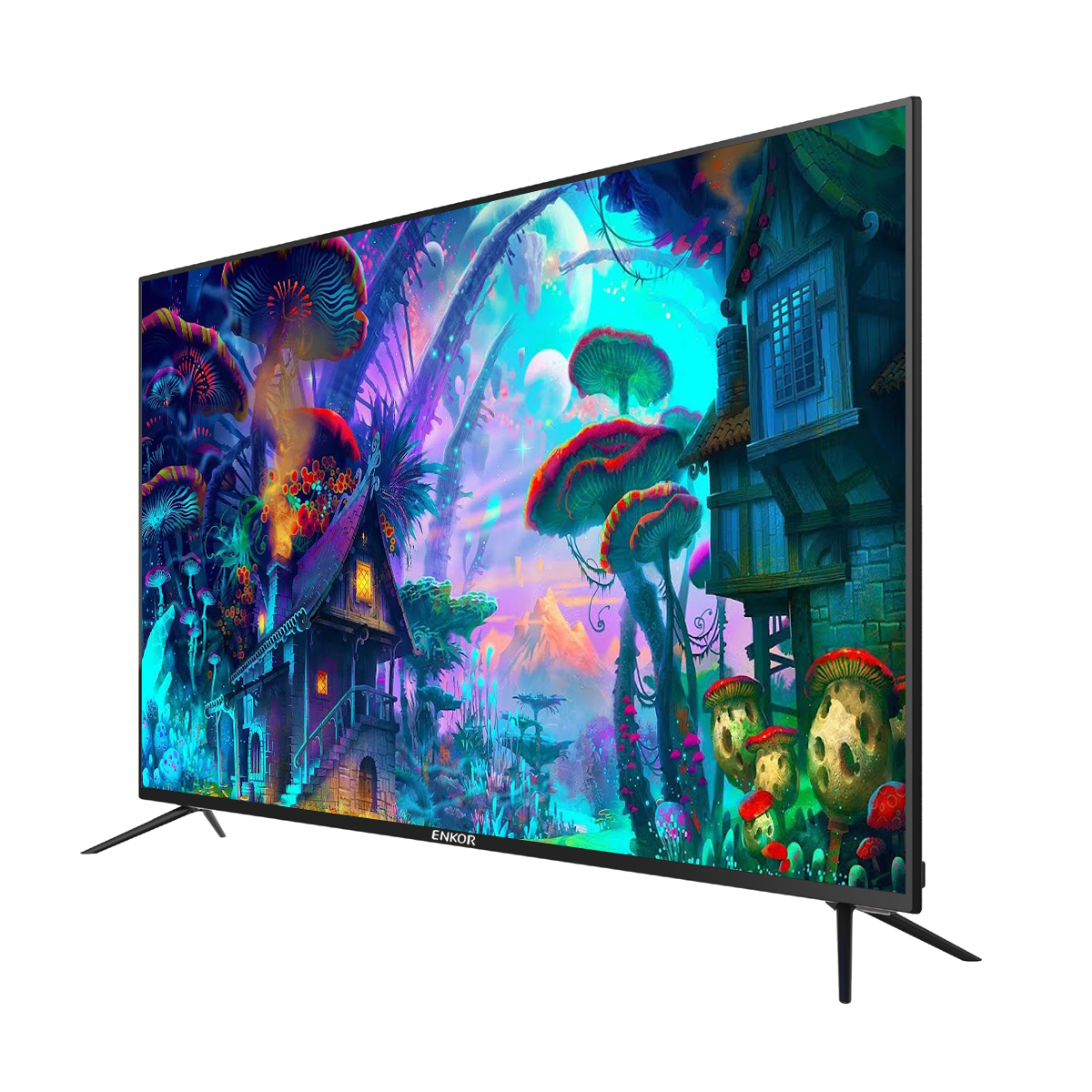 Full HD Televizyonlar wifi LED TVs Gelen çin LED ampul Televizyon 4 K Akıllı TV 32 39 40 43 50 55 inç HD FHD UHD Normal LED TV