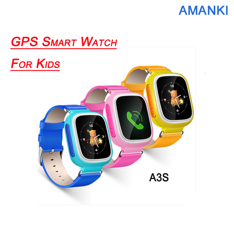 Amanki High Quality Kids Watch Phone Waterproof Security GPS Wrist Smart Watch
